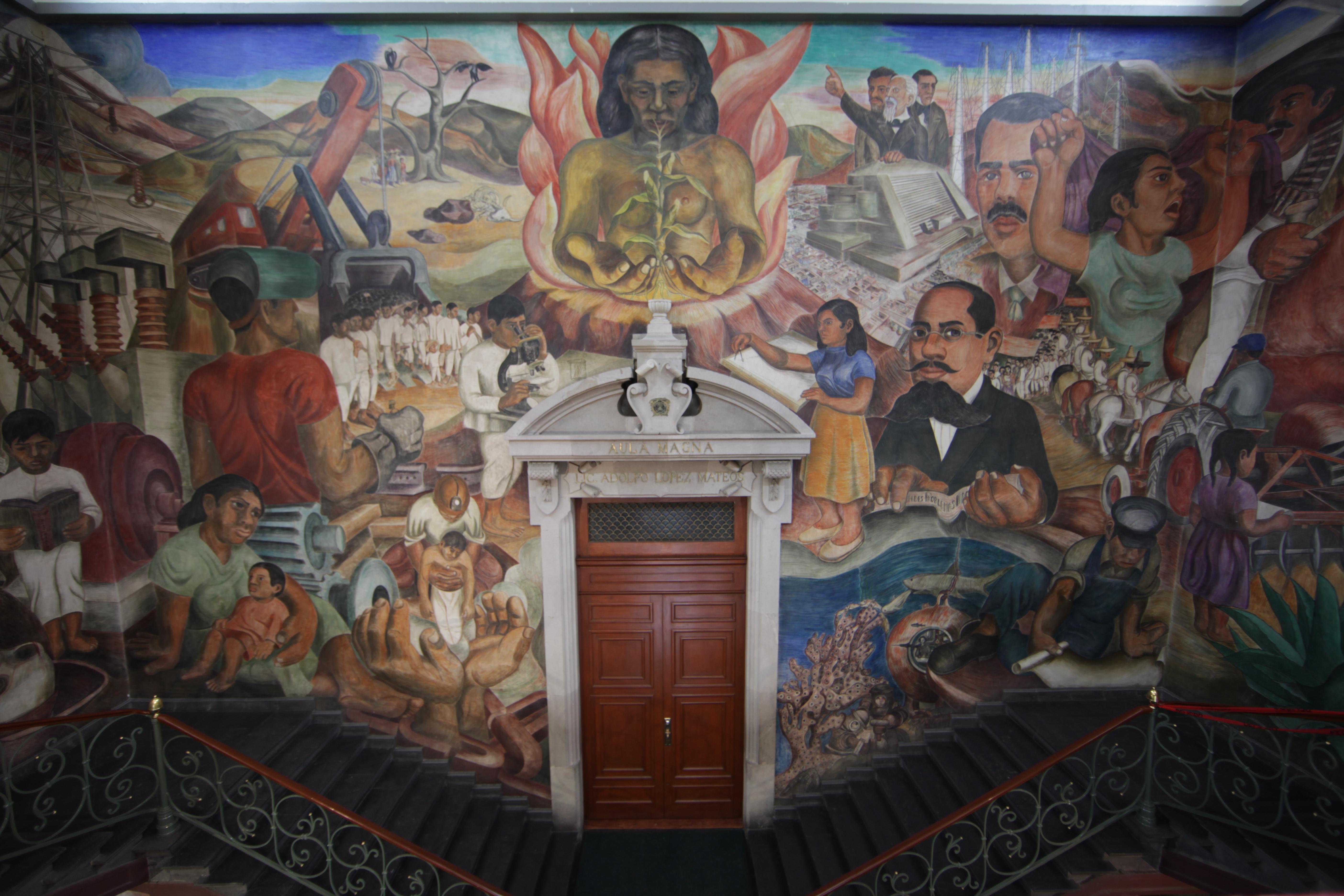 Aula magna for Mural prepa 1 uaemex